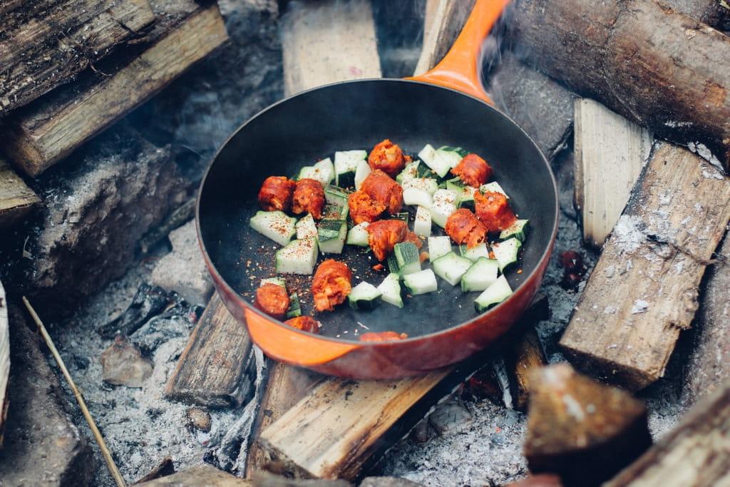 Nachhaltig campen - Essen