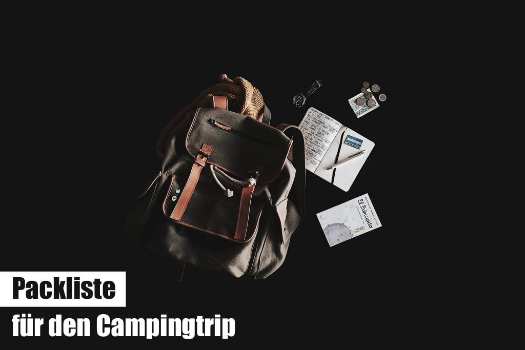 Packliste fuer den Campingtrip (Checkliste)