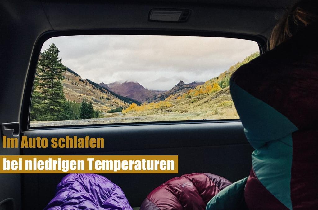 Bei Kaelte / Im Winter im Auto schlafen