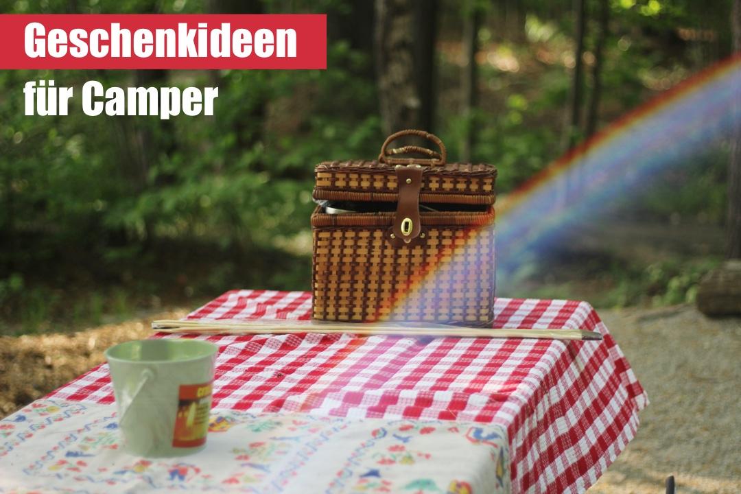 Geschenkideen für Camper, Campingfreunde, Camping-Fans